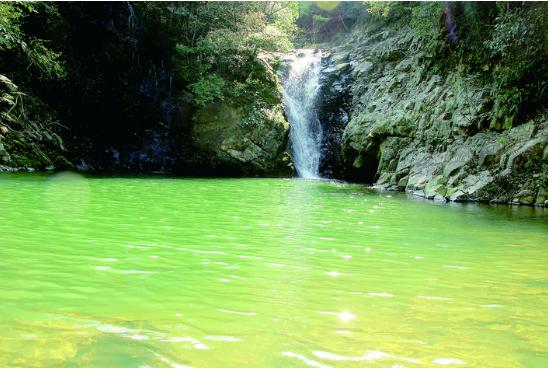 夏日,去看龙洞瀑布