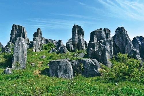 神奇壮观的天然石林——冷屏山